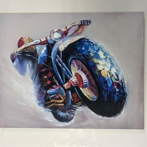 Other - 40 by 50 cm printed in canvas motorcycle art color